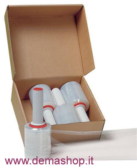 ESTENSIBILE MINIPACK TRASPARENTE BOX DA 4 ROTOLI